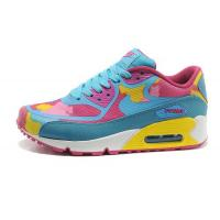 China Nike Air Max 90 Tape Sky Blue Pink Womens Shoes on sale