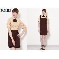 Quality Coffee Shop Fine Dining Restaurant Uniforms With High - End Suit for sale