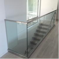 China aluminum u channel home depot frameless glass railing balustrade on sale