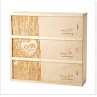 Buy cheap classical design unfinished wooden wine boxes from wholesalers