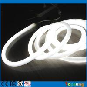 China 360 degree round led neon flex 16mm mini rope light 12V white color neonflex rope strip on sale