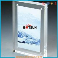 China High quality clear square double sided acrylic photo frame with magnets on sale