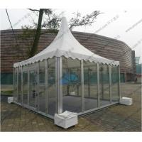 Quality Aluminum Outdoor Pagoda Party Tents , Garden Marquee Tent With Glass Sidewalls for sale
