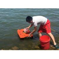 Quality Orange catamaran bait boat lithium battery power and ABS plastic type for sale