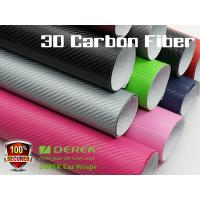 Quality 3D Carbon Fiber Vinyl Wrapping Film bubble free 1.52*30m/roll - colors for choose for sale
