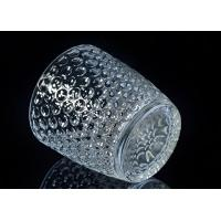 Quality christmas deco embossed nail design glass candle holders for sale