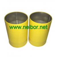 Quality personalized round metal tin pen holder with raised rings for sale