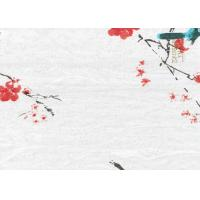 Quality Printing Flowers Textured Wall Decor Bamboo Fiber Products 340*60 CM for sale
