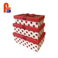 China Beautiful Cardboard Gift Box Red Color Customized Perfect For Chrismas Cardboard Gift Boxes on sale