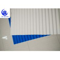 Quality Plastic Corrugated Tinted Plastic Roofing Sheets / Spanish Tile Roof for sale