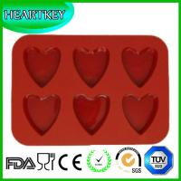 Quality New Arrival 6 Cavity Heart Silicone Cake Pan Baking Chocolate Mold Muffin Cupcake Moulds for sale