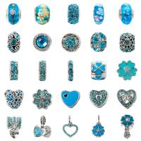 Quality Fashion Crystal Pandora Style Beads For Bracelet For DIY Jewelry Making 25 Styles for sale