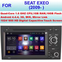 Quality OBD Internet 2009+ Seat Exeo Car Radio GPS , Double Din Car Stereo Bluetooth Sat Nav for sale