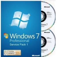 Quality 100% Work Windows 7 Professional Retail Box 32 & 64 Bit DVDs For One PC for sale