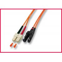 Quality OS2 MU to LC Zipcord Fiber Optic Patch Cable, Singlemode Yellow PVC Optic Cable for sale