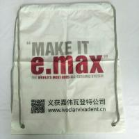 China Rope Shoulder Custom Plastic Drawstring Bags Double Layer Material Synthetic on sale