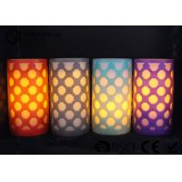 Quality Party decoration  Real Wax Electronic Candles , Carved craft LED candle for sale