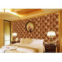 Quality Concise Diamond Printing Inmitation Leather Wall Coverings Moisture Resistant for sale