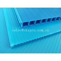 China Ultraviolet - Proof Clear Plastic Hollow Board Corrugated Environmentally Friendly on sale