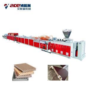 Quality Sawdust Board Wood Plastic Composite Production Line PVC UPVC Hollow Door for sale