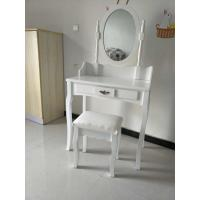 Quality Wholesale white small wooden dressing table with drawer for sale