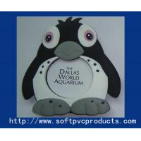 Quality Lovely Penguin Personalised Soft PVC Photo Frame for Promotional gifts , Decoration for sale