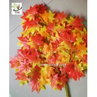 Best UVG garden ornament orange artificial maple leaves for holiday living outdoor decoration GRE054 wholesale