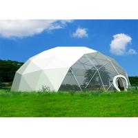 Quality Outdoor Customized Geodesic Dome Tent Lightweight Heat Resistant Steel Frame for sale