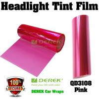 Quality Car Headlight Tint Film 3 layers 0.3*10m/roll - Pink for sale