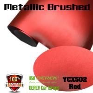 Quality Matte Metallic Brushed Vinyl Wrapping Film - Matte Metallic Brushed Red for sale