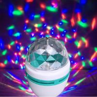 China E27 3W RGB LED Full Color Rotating Lamp Disco Light on sale
