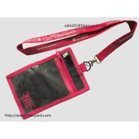 Best Custom Fair Name badge Holders Lanyard, Hanging Neck Pouch Wallet Lanyard with PVC Pocket wholesale