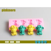 China Food Safe Custom Silicone Cake Molds Mickey Mouse 4 Cavities Tasteless on sale