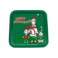 Quality square tin tray christmas tin trays promotional metal tin serving trays for sale