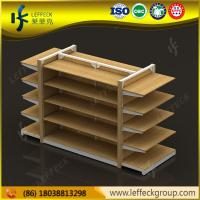 Quality High end and special design 5 layers heavy duty wood material display shelf for retail sto for sale