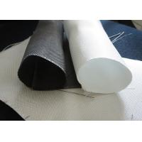 China White PTFE Coated Alkali / Non-Alkali Filter Fabric Roll 330 - 900gsm woven roving plain cloth on sale