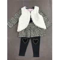 Quality Spandex Cute Baby Winter Clothes , 3 Pcs Vest Set Knitted Baby Clothes Coats for sale
