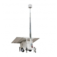 Quality 22.9ft Mobile Solar Trailer With Solar Panels Telescopic Mast Batteries for sale