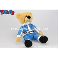 Quality 10 Customized Brown Teddy Bear With Blue Joined Bodies Vehicle Race Clothing for sale