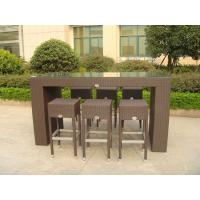 Quality Outdoor Leisure Furniture Sets , Fashion Resin Wicker Bar Set for sale
