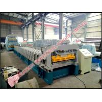 China Steel and Aluminium Step Tile Roofing Sheet Corrugating Machine with 6 Meters High Working Speed on sale