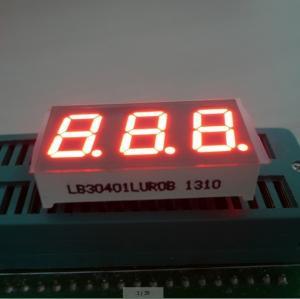 China Triple Digit 7 Segment LED Digital Display For Instrument Panel Indicator 0.40 inch on sale