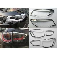 China JEEP Compass 2017 Decoration Parts Car Headlight Covers , Chromed Head Lamp and Tail Lamp Bezel on sale
