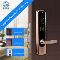 China Anxin New Smart Home Password Fingerprint Zinc Alloy Intelligent Door Lock Peepproof  Lift to Loct ID Card Key on sale