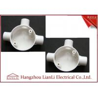 Quality Three Way Round PVC Electrical Conduit Junction Box BS4568 Custom Made for sale