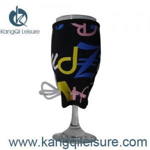 Quality Neoprene Wine Glass Koozie for sale