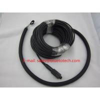 Waterproof Fiber Optic Network Cable , PDLC LC Duplex Patch Cord With Outer Nylon Net