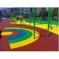 China Eco Friendly Green Color Playground Rubber Tiles / Gym Flooring on sale