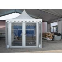 China 3 X 3m White PVC Party Pavilion Tent , Outside Gazebo Tent With Glass Wall Windows on sale