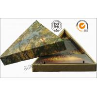 Quality Triangle Handmade Mounting Custom Printed Corrugated Boxes With Hard Insert Cardboard for sale